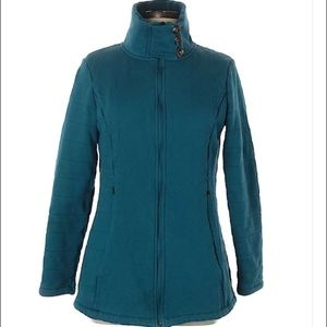 Teal North Face Button Neck Jacket
